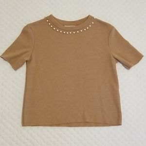 Zara Raw Edge Crop Sweater